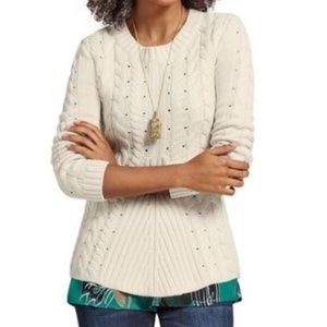 Cabi Lace Up Sweater